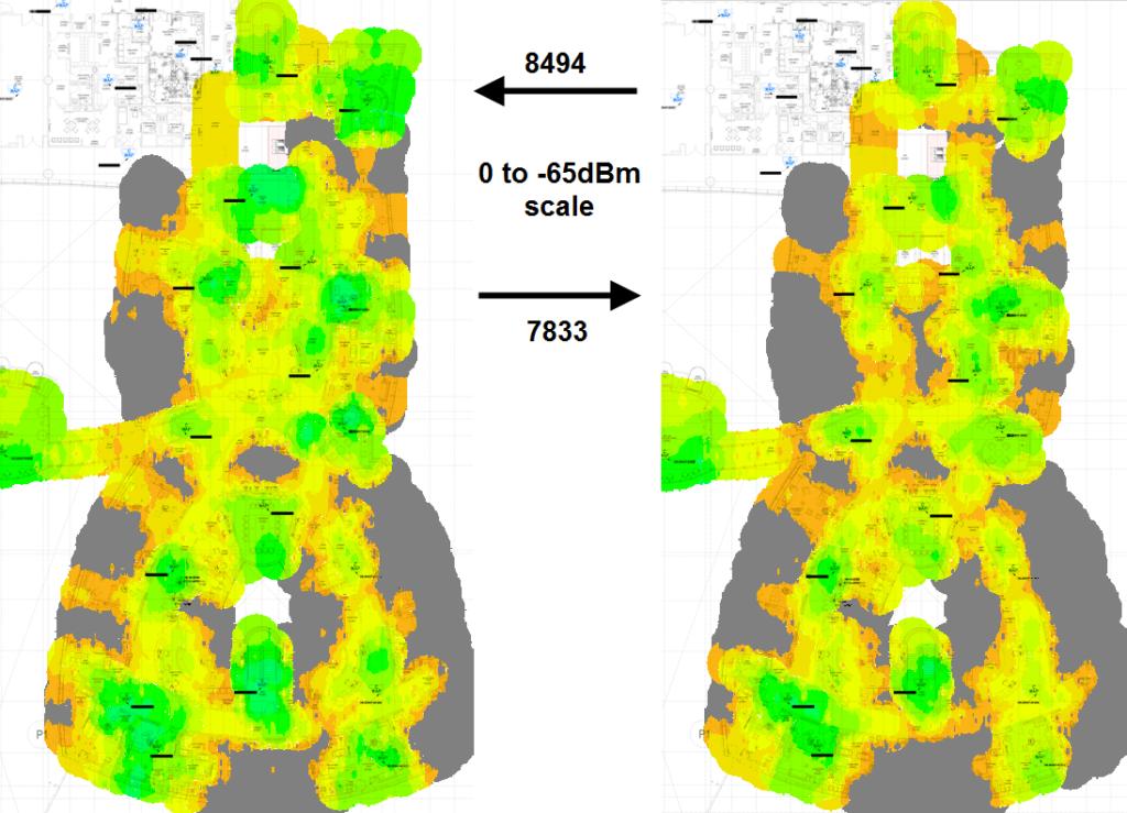 Proxim 8494 heat map vs Edimax EW7833